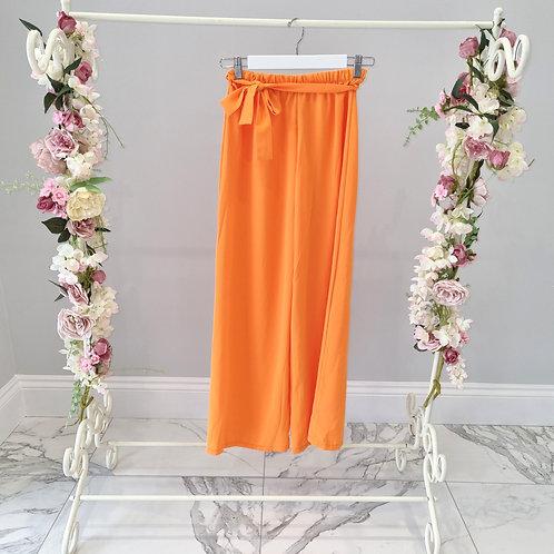 Melissa Orange Loose Fit Trousers
