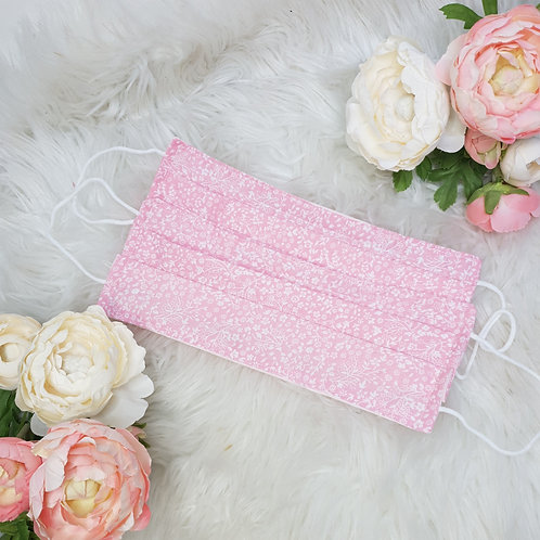 Ditsy Pink Floral Face Mask