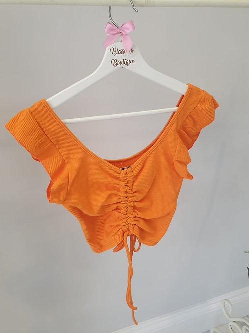 Orange Ellie Ruche Middle Crop