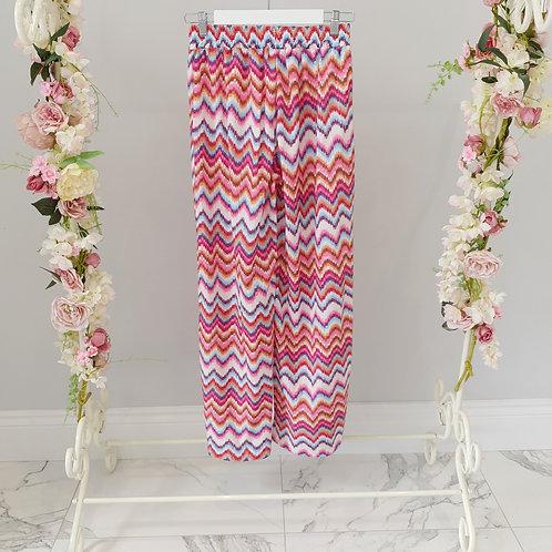 Pink Blend Aztec Wide Leg  Pants