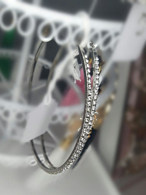 Large Diamanté Hoops