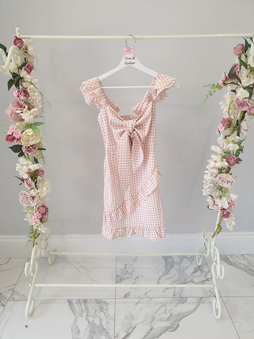 Heather Gingham Summer Dress