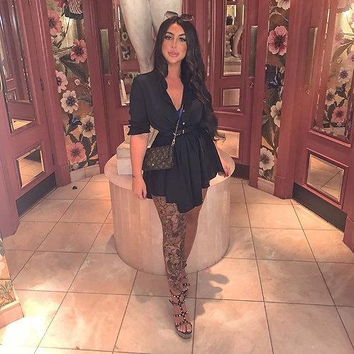 Natalie Satin Elastic Waist Dress