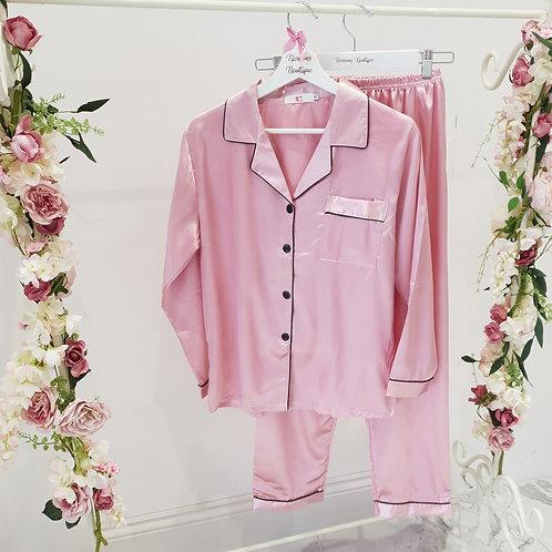 Belle Satin Pink Pyjamas