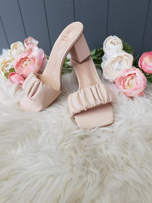 Blossom Nude Mule Heel