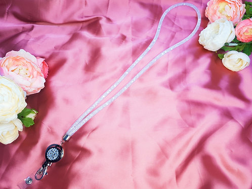 Luxury Crystal Lanyard with Retractable Clip