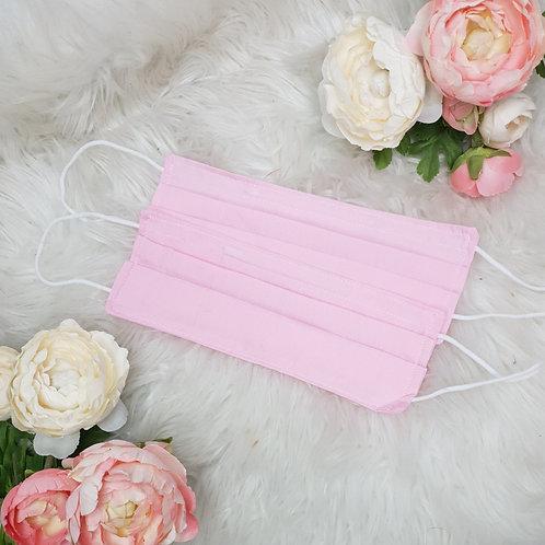 Plain Dark Pink Face Mask