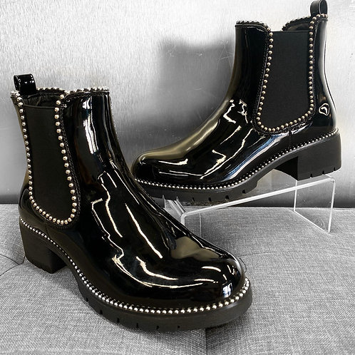 Lola Black Patent Leather Chelsea Boot