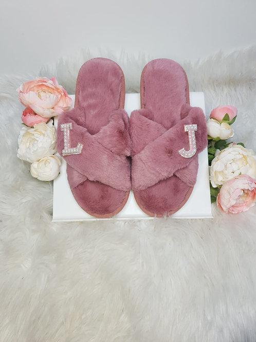 Serenity Blush Soft Faux Fur Slippers