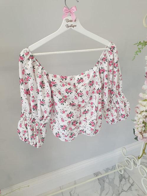 Evelie Floral Crop Top