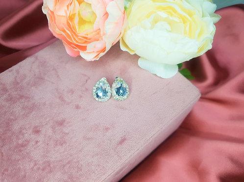Teardrop Diamante Stud Earing