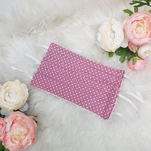 Rose Pink Polka Dot Face Mask