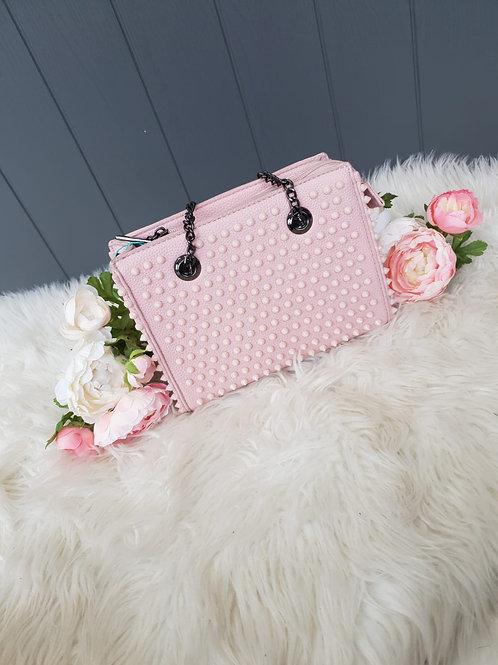Pink Studded Handbag