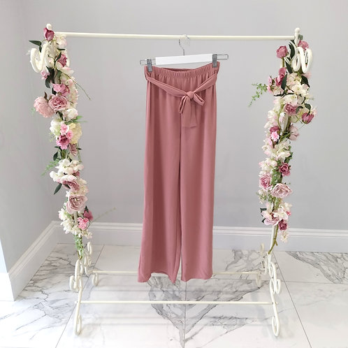 Melissa Pink Loose Fit Trousers