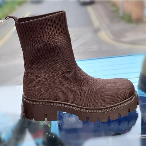 Chunky Ankle Sock Boot
