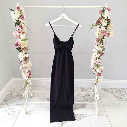 Black Mia Maxi Dress with Cut Out Detail