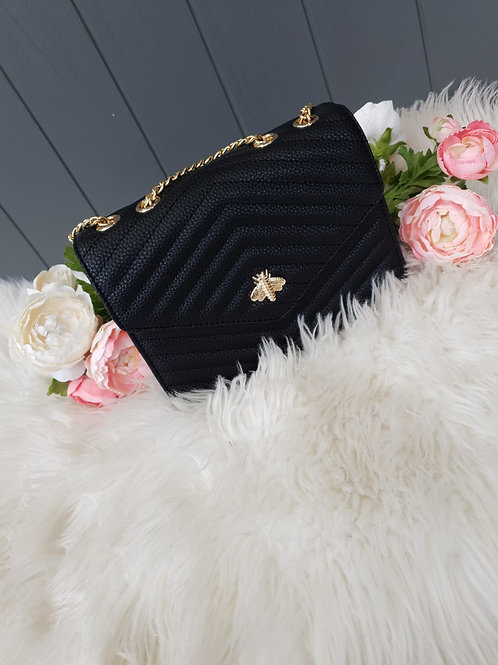 Black Bee Design Crossbody Bag