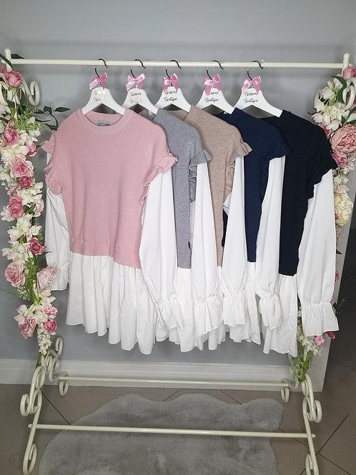 Amelia Frill Sleeve Shirt Jumper