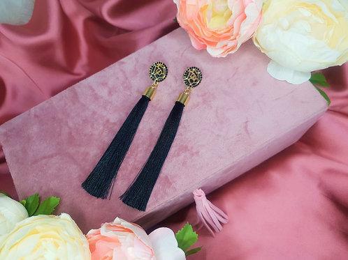 Diamanté Tassel Drop Earrings