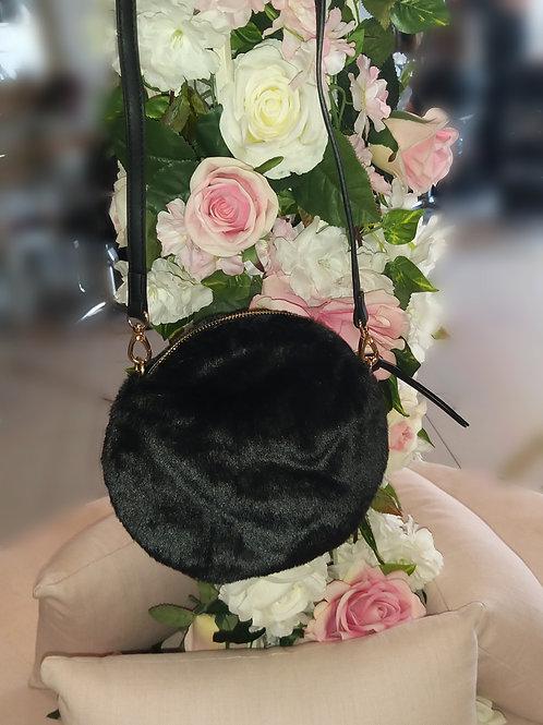 Round Fur Crossbody Bag