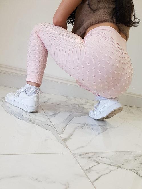 Blush Pink Abbie Anti-cellulite Leggings