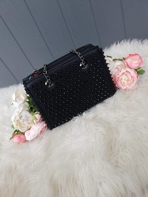 Black Studded Handbag