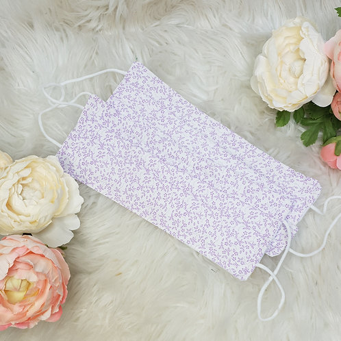 Ditsy Purple Floral Face Mask