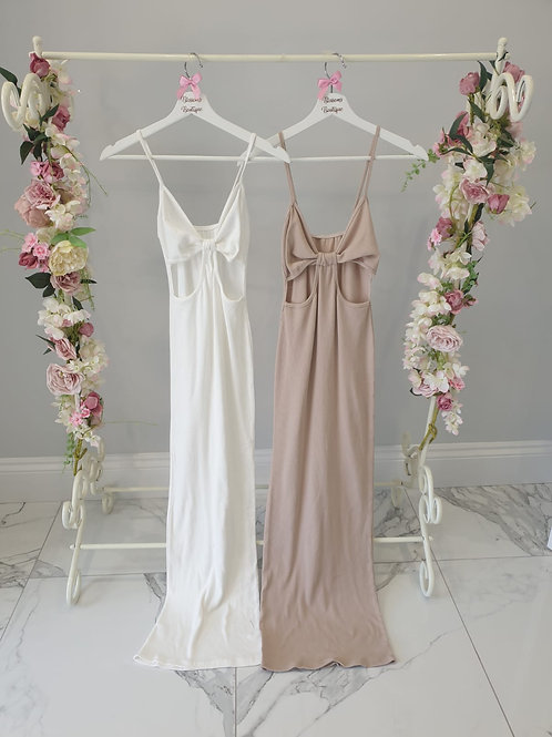 Nude Mia Maxi Dress with Cut Out Detail