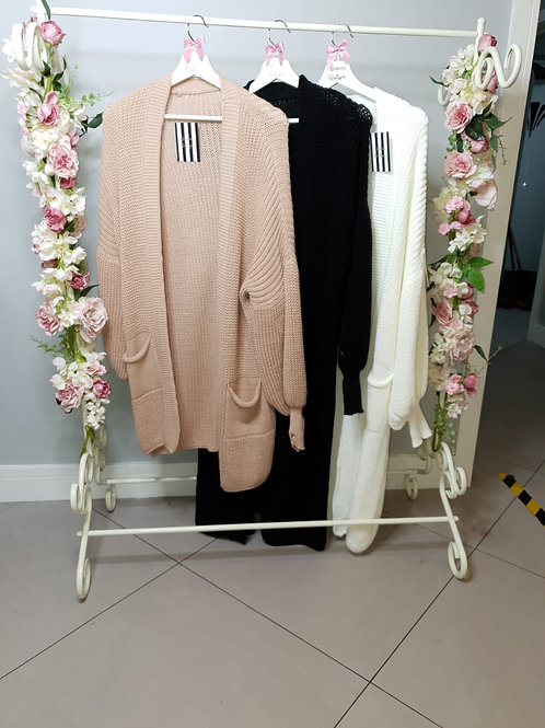 Danielle Bell Sleeve Long Knitted Cardigan