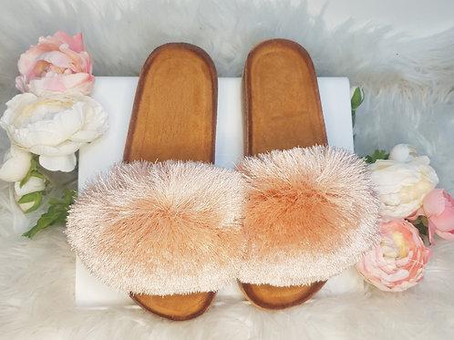 Pink/Peach Luna Tassel Slides