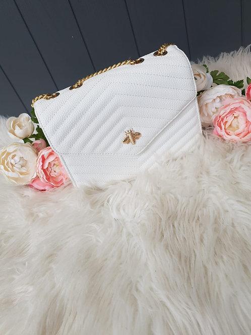 White Bee Design Crossbody Bag