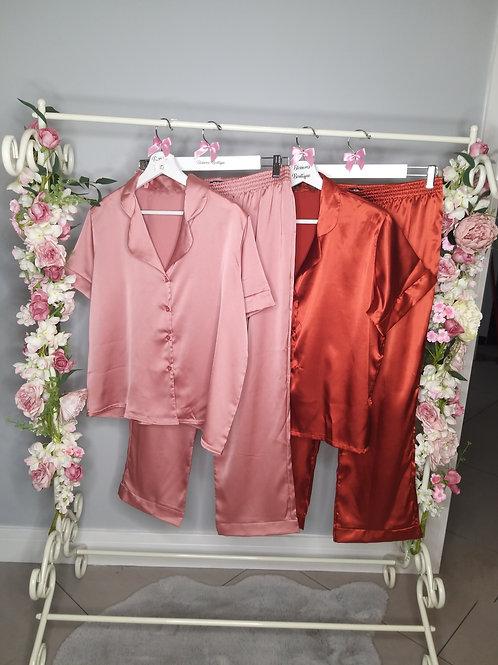 Harper Satin Long Pyjamas