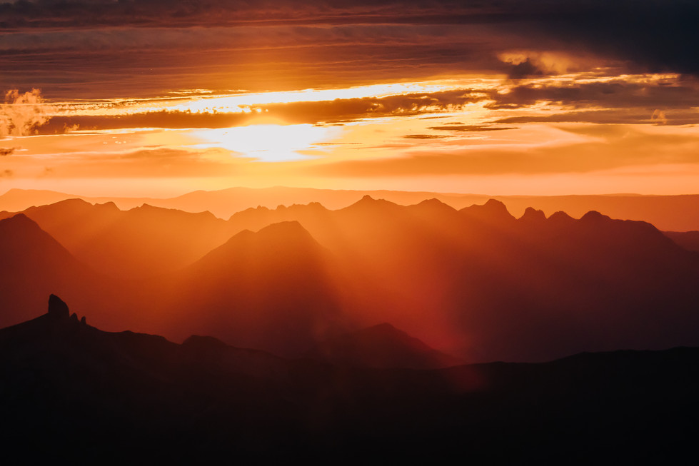 Sunset from the Eiger
