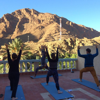 Group yoga sessions daily