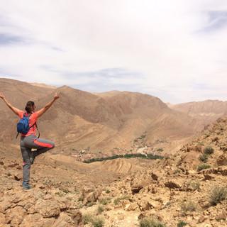Yoga on a hike