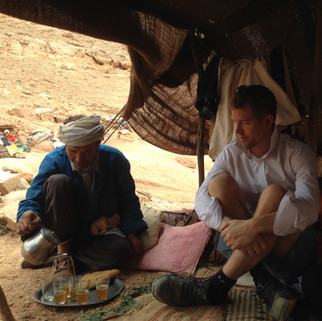 Moroccan hospitality in a Nomad camp