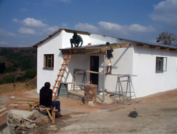 Pre-school's roofing goes up