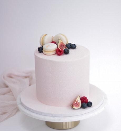 Macarons Gilded Fruits Cake