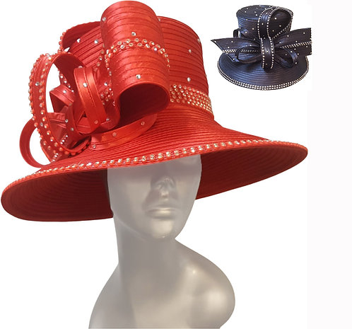 Women's large brimmed satin couture church kentucky derby hat (SW21046)