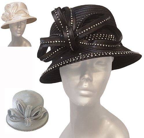 Elegant looking dressy special occasion hat perfect for a Sunday Church