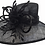 Thumbnail: Women's designer couture Derby Easter Weddings straw sinamay summer hat #SW9067