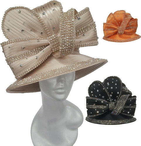 Women's year around Satin Ribbon Designer Couture church wedding Hat #H3068