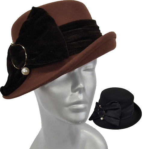 Wool Collection - Wool Felt Dressy Hat - Style #19002