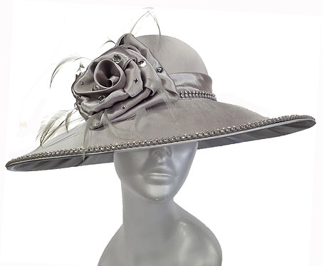 Satin Covered Collection - SW9020 - Dressy Satin Covered Couture Hat