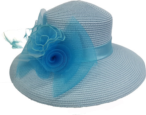 Women's Poly braid packable straw hat for summer occasion  #CM1109