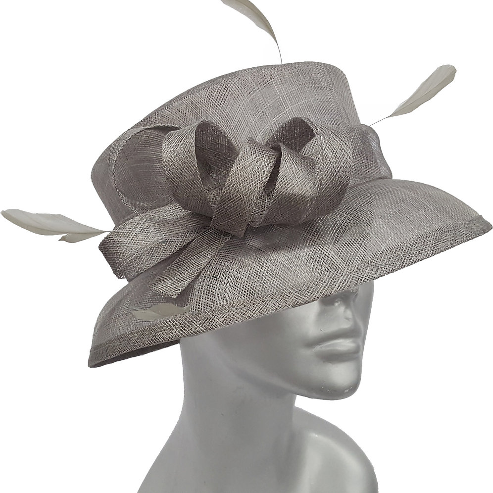 SM7024 Women's Medium Shaped Church Wedding Kentucky Derby Straw Hat