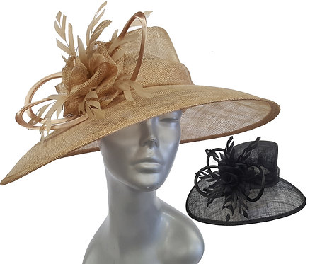 Women's designer couture Derby Easter Weddings straw sinamay summer hat #SW9067