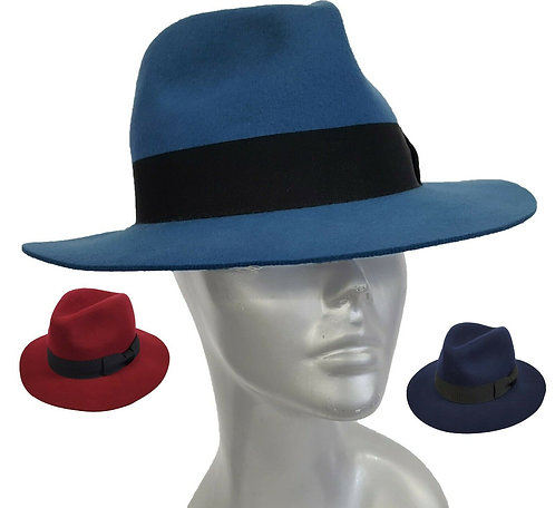The 'Gangster' Wool Felt Cowboy Fedora Hat - Style #505F19