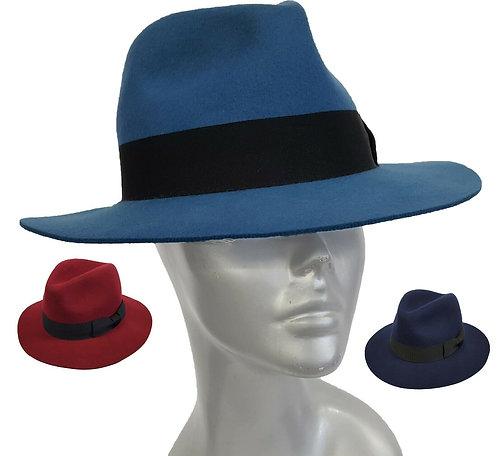 The 'Gangster' Wool Felt Cowboy Fedora Hat - Style #505F19