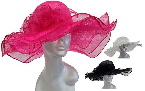 Women's Designer Dressy Kentucky Derby Sinamay Straw Hat #SW9057